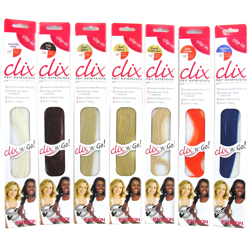 Clix Next To Natural 16 Hair Extensions Choice Of Colours One